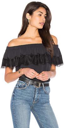 Ella Moss Isabella Off Shoulder Top in Black $138 thestylecure.com