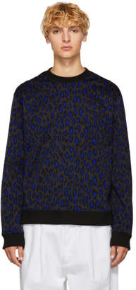Kenzo Grey Leopard Classic Sweatshirt