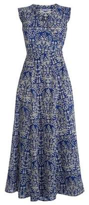 Pink City Prints - Indigo Cotton Sea Wrap Dress - Small UK 10 - Blue/White