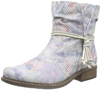 Rieker Women Z4166_Textil Cold Lined Classic Boots Half Length Multicolour Size: