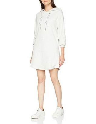 Tom Tailor Women's Langer Sweatpullover Mit Kaputze Sweatshirt, (Marble Beige Melange 8711), Large
