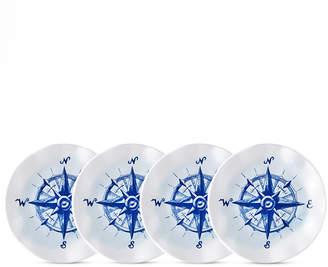 "Q Squared Portsmouth 4-Pc. Melamine 5.5"" Appetizer Plate Set"