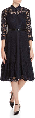 Nanette Lepore Nanette Lace Belted Maxi Dress