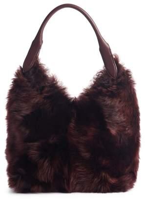 Anya Hindmarch Build a Bag Small Genuine Shearling & Leather Base Bag