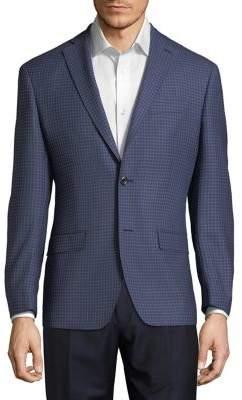Michael Kors Wool Grid Suit Jacket