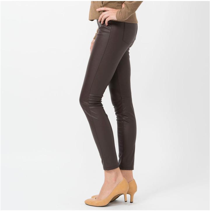 Uniqlo Women Faux Leather Leggings Pants