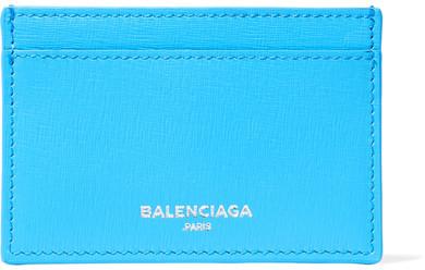 Balenciaga Balenciaga - Textured-leather Cardholder - Light blue