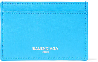 Textured-leather Cardholder - Light blue