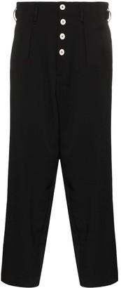 Yohji Yamamoto dropped-crotch trousers