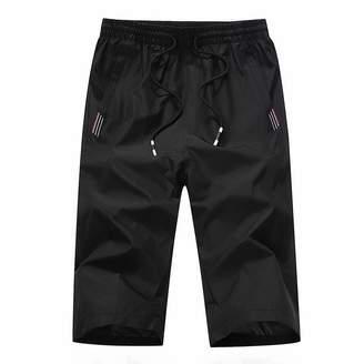 Trunks BESSKY Men's Outdoor Fast-Drying Slim Recreational Sports Capri Pants Beach Trousers