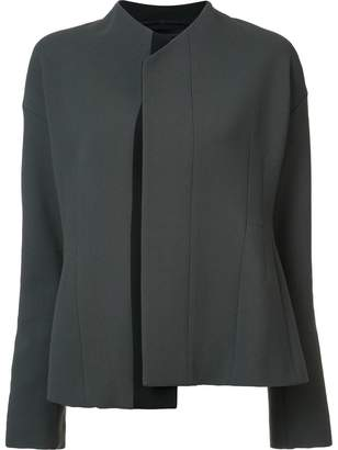 Narciso Rodriguez asymmetric contrast trim blazer