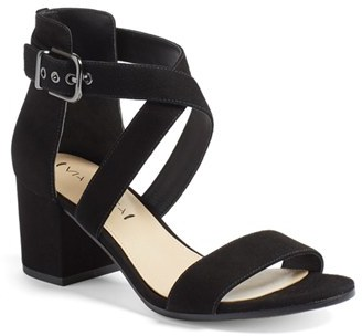 Women's Via Spiga 'Jobina' Crisscross Strap Block Heel Sandal $195 thestylecure.com
