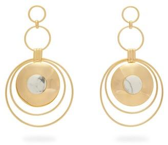 Joelle Gagnard Kharrat - Chapiteau Gold Plated Drop Earrings - Womens - White