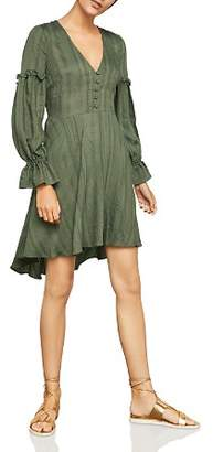 BCBGMAXAZRIA High/Low Jacquard Dress