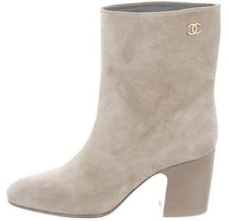 Chanel Round-Toe Ankle Boots