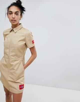 Calvin Klein Zip Through Cotton Dress