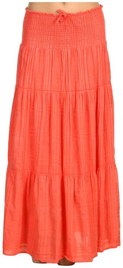 Michael Stars Rachel Smocked Convertible Skirt (Coral Sherbet) - Apparel