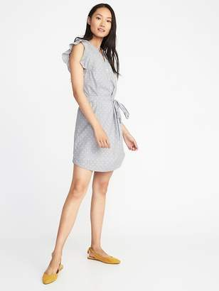 Old Navy Clip-Dot Tie-Belt Shirt Dress for Women