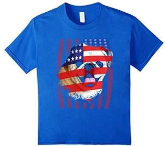 American Flag Pug T-Shirt