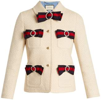 Gucci Bow-detail tweed jacket