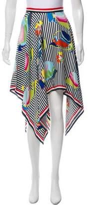 Thom Browne Silk Fish Print Skirt