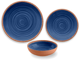 TarHong Rustic Swirl Melamine 12 Piece Dinnerware Set, Service for 4