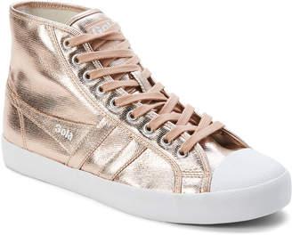 Gola Rose Gold Coaster Metallic High-Top Sneakers