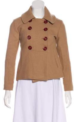 Ulla Johnson Wool Cropped Peacoat