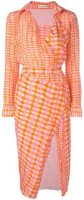 Altuzarra checked fitted shirt dress