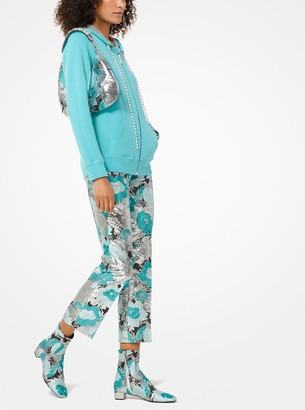 Michael Kors Floral Brocade Cropped Trousers