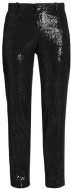 Each X Other Women's Sequin Tuxedo Pants - Black - Size Small
