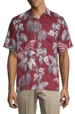 Tommy Bahama Boca Da Palm Silk Button-Down Shirt