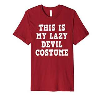 Red Devil Shirt Halloween This is My Lazy Devil Costume