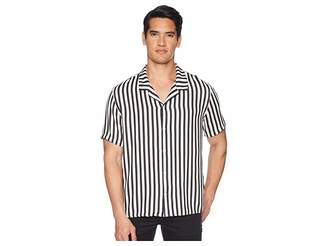 The Kooples Clean Striped Short Sleeve Shirt Men's Clothing