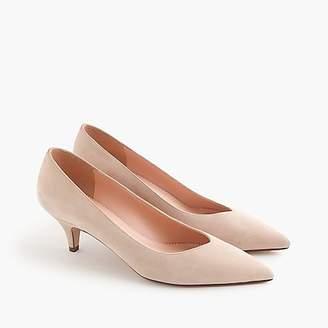 7511089dc284 ... J.Crew Dulci V-cut kitten heels in suede