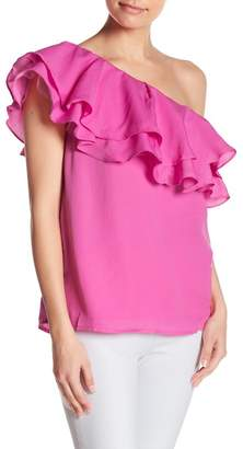 Do & Be Do + Be One-Shoulder Tiered Ruffle Blouse