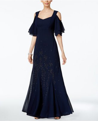 R & M Richards Embellished Cold-Shoulder Gown $129 thestylecure.com