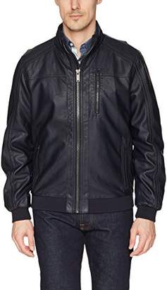 Calvin Klein Men's Lightweight Faux Leather Bomber