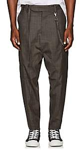 Chapter MEN'S CHAIN-EMBELLISHED WOOL-BLEND DROP-RISE TROUSERS-CHARCOAL SIZE 29