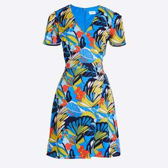 J.Crew Factory Printed wrap-front mini dress