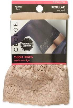 Secret Treasures Women's Lace Top Thigh High Tights