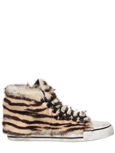 Dioniso 20mm Tiger Print Pony Skin Sneakers