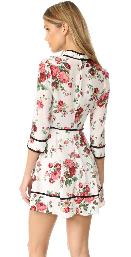 re:named Floral Neck Tie Dress 5