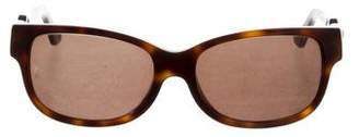 Cartier Tortoiseshell Rectangular Sunglasses