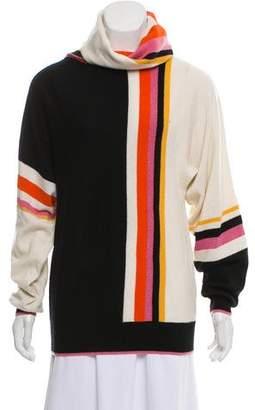 Matthew Williamson Cashmere Striped Turtleneck Sweater