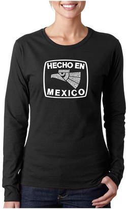 LOS ANGELES POP ART Los Angeles Pop Art Hecho En Mexico Long Sleeve Graphic T-Shirt