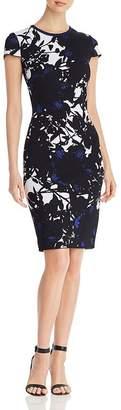 St. John Floral Jacquard Knit Dress