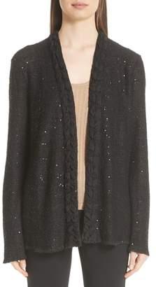 Emporio Armani Sequin Knit Cardigan