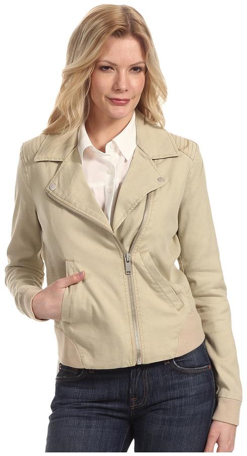 Calvin Klein Jeans Moto Jacket w/ Rib Trim (New Chino) - Apparel