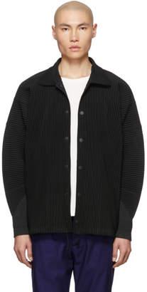 Issey Miyake Homme Plisse Black Pleated Coach Jacket